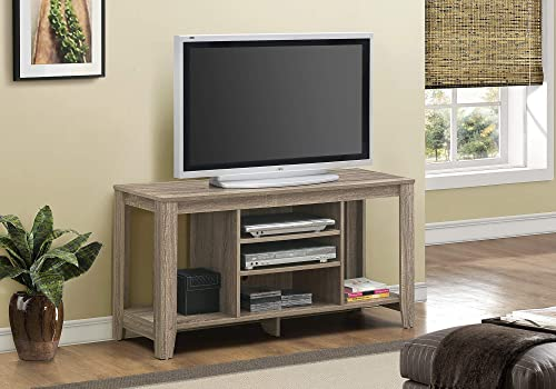 Monarch Specialties Dark Taupe Reclaimed-Look TV Console