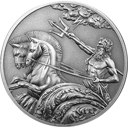 Power Coin Poseidon Dios Griego Del Mar Creatures Of Myth And Legend