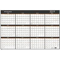 "AT-A-GLANCE 2019 Wall Calendar, 36"" x 24"", Large, Erasable, Dry Erase, Reversible, Vertical/Horizontal, Contemporary (PM26X28)"