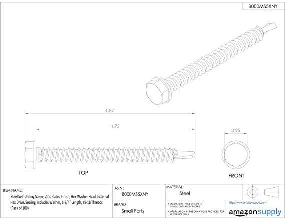 Pack of 50 #2 Phillips Drive Fully Threaded 3 Length Imported #10-24 Thread Size Steel Truss Head Machine Screw Zinc Plated Finish Meets ASME B18.6.3