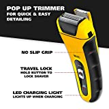 Wahl Lifeproof Lithium Ion Foil Shaver - Waterproof Rechargeable Electric Razor With Precision Trimmer for Men'S Beard Shaving, Trimming & Grooming with Long Run Time & Quick Charge - Model 7061-100