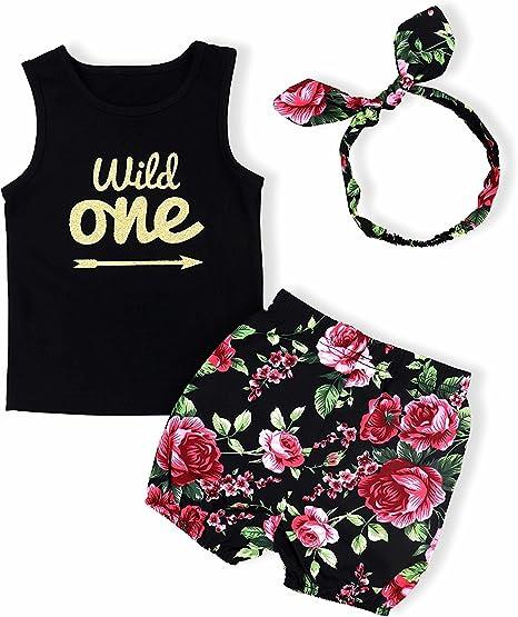 Newborn Baby Floral Cotton Blend Vest Dress Girls Sleeveless T-Shirt Top Clothes