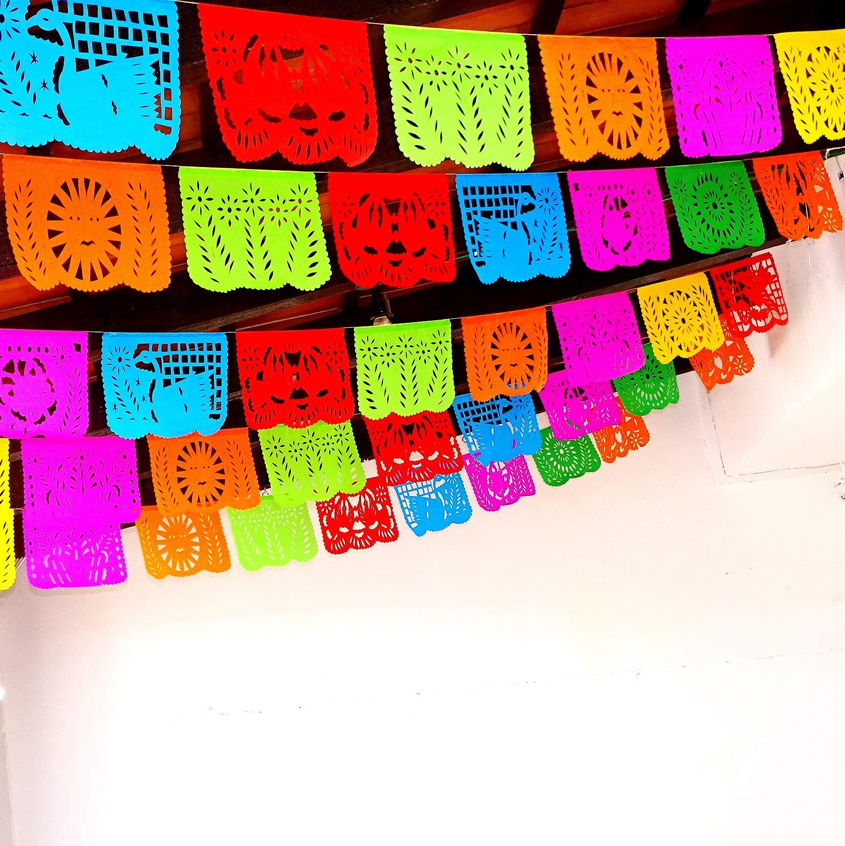 5 Pk Cinco De Mayo Party Decorations Papel Picado Banner 60 Ft