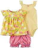 Carter's Baby Girls' 3 Piece Bodysuit & Diaper