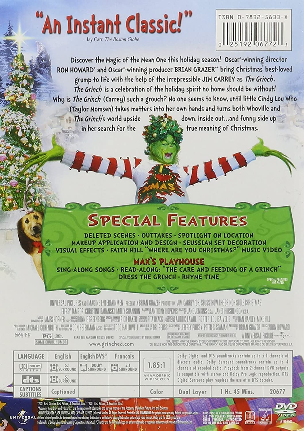 amazoncom dr seuss how the grinch stole christmas movies tv