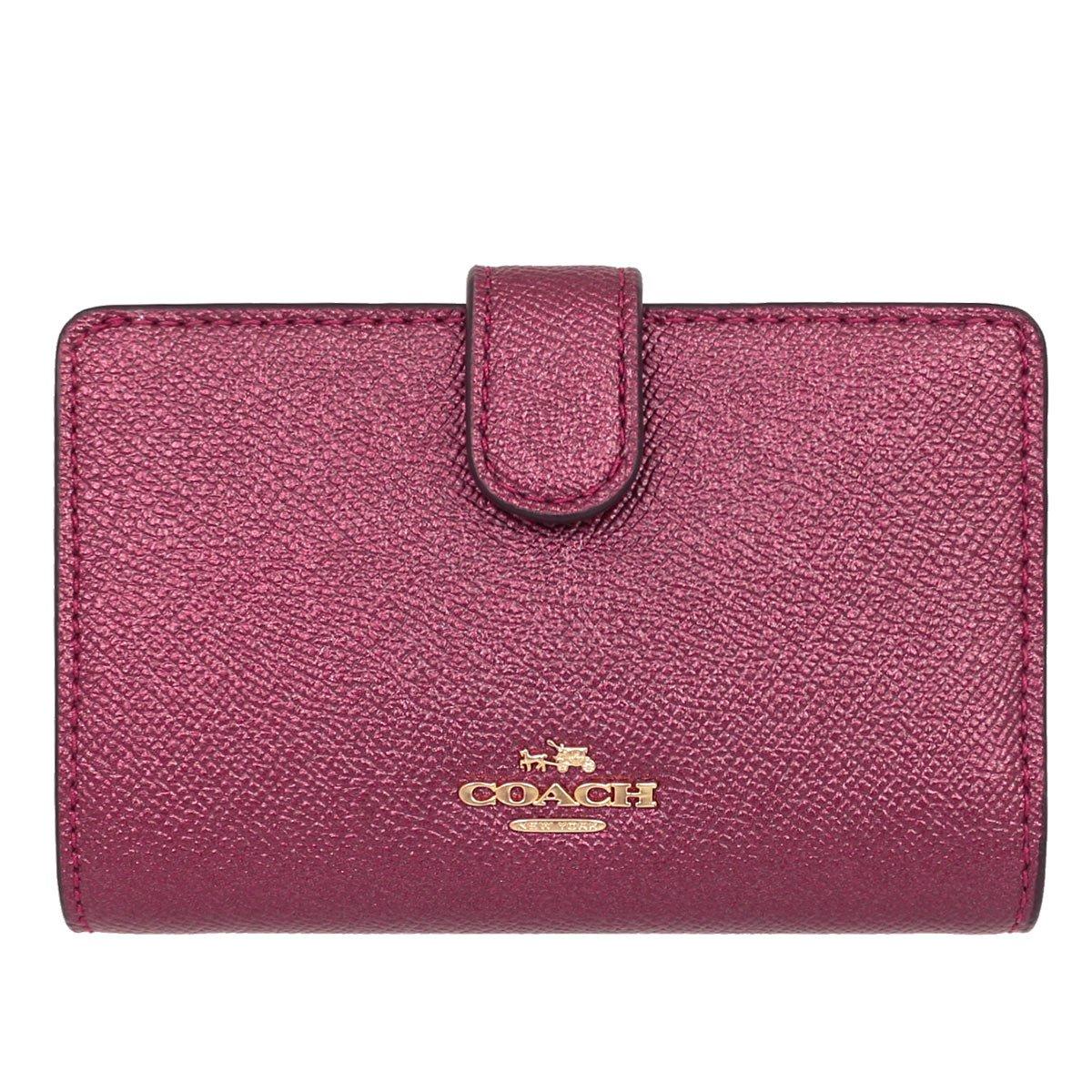 cf646c779997 Amazon | [コーチ] COACH 財布 (二つ折り財布) F23256 メタリックチェリー IME42 レザー 二つ折り財布 レディース  [アウトレット品] [並行輸入品] | 財布