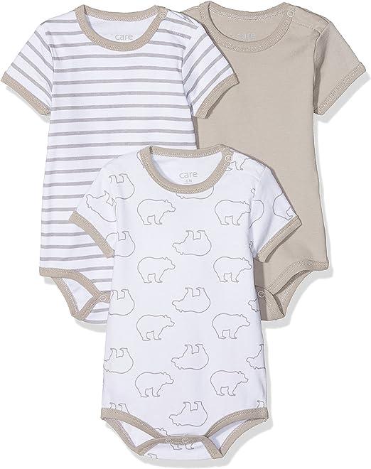 3er Pack Baby Unisex Kurzarm Bodys weiß