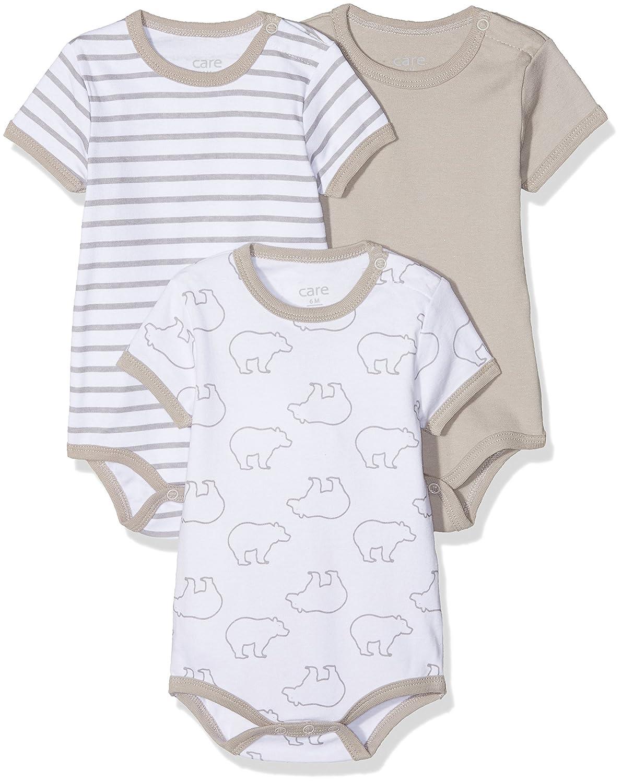 Care Unisex Baby Kurzarm-Body im 3er Pack Brands 4 Kids A/S 4133