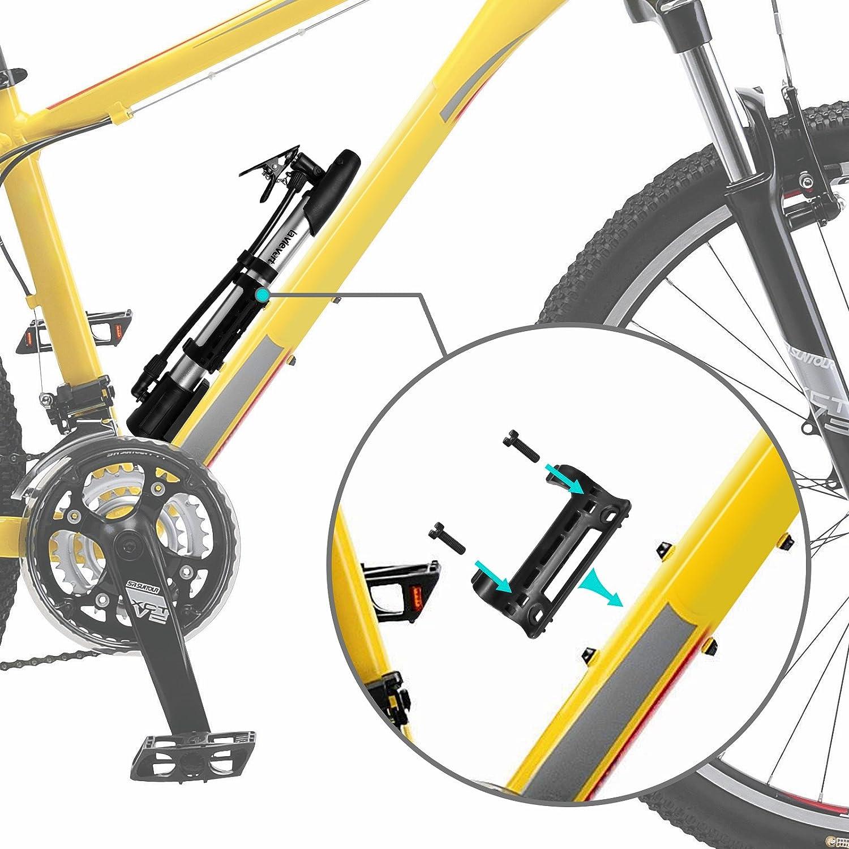 Lavievert Mini Bike Air Pump Portable Bicycle Floor Pump with ...