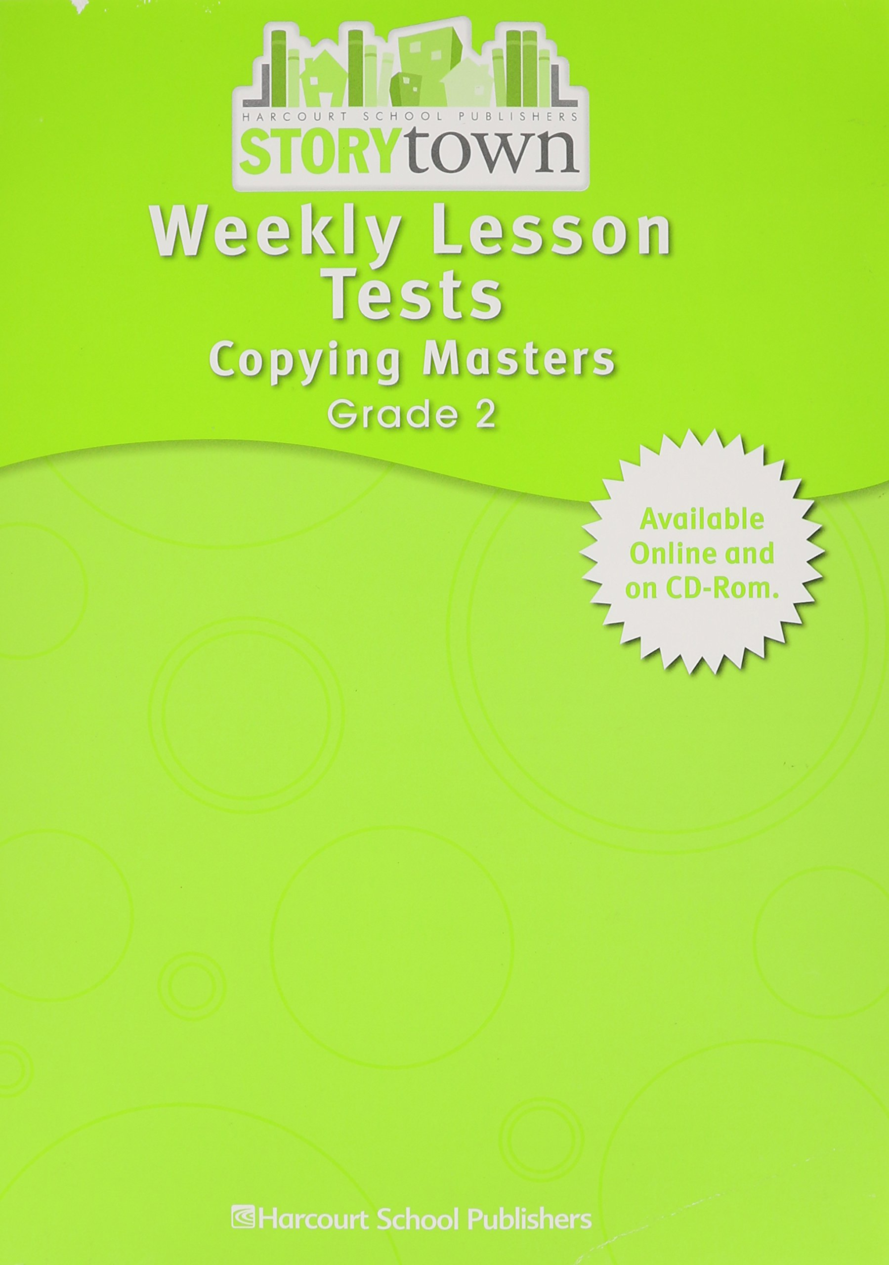 Buy Storytown Weekly Lesson Tests Copying Masters Student