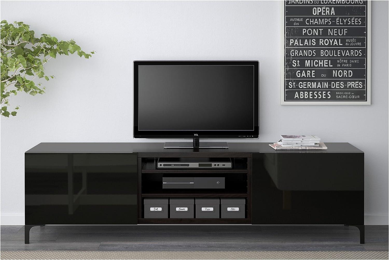 Zigzag Trading Ltd IKEA BESTA - Mueble TV con cajones Negro-marrón/selsviken Alto Brillo/Negro: Amazon.es: Hogar
