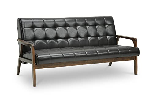 Baxton Studio Mid-Century Masterpieces Sofa, Brown, Sofa Only