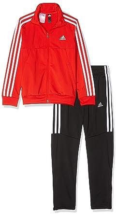 adidas Jungen Tiro Trainingsanzug, Active RedBlackWhite, 128