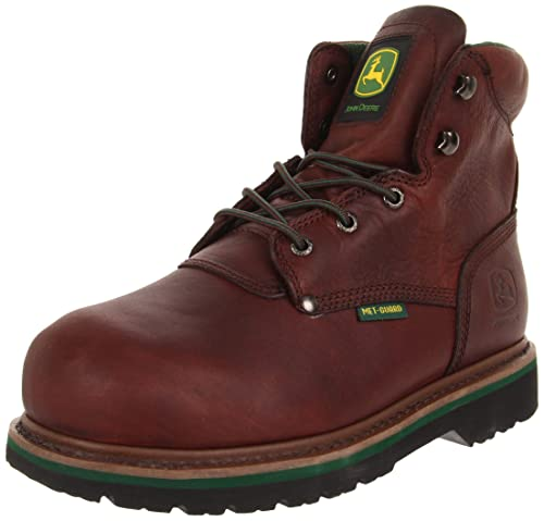"John Deere jd6373 Hombres de 6 ""Seguridad Toe Cordones con Flexible Interior Met Guardia"