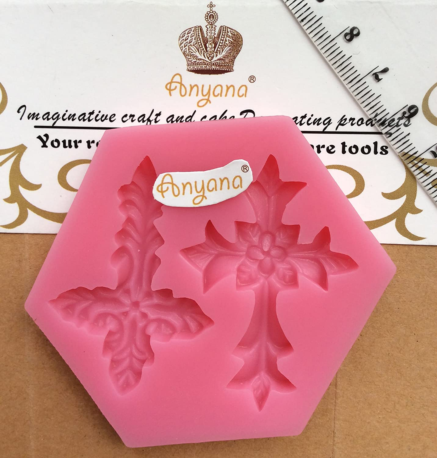 Amazon.com: Anyana HOLY COMMUNION BAPTISM christian CROSS mould cake ...