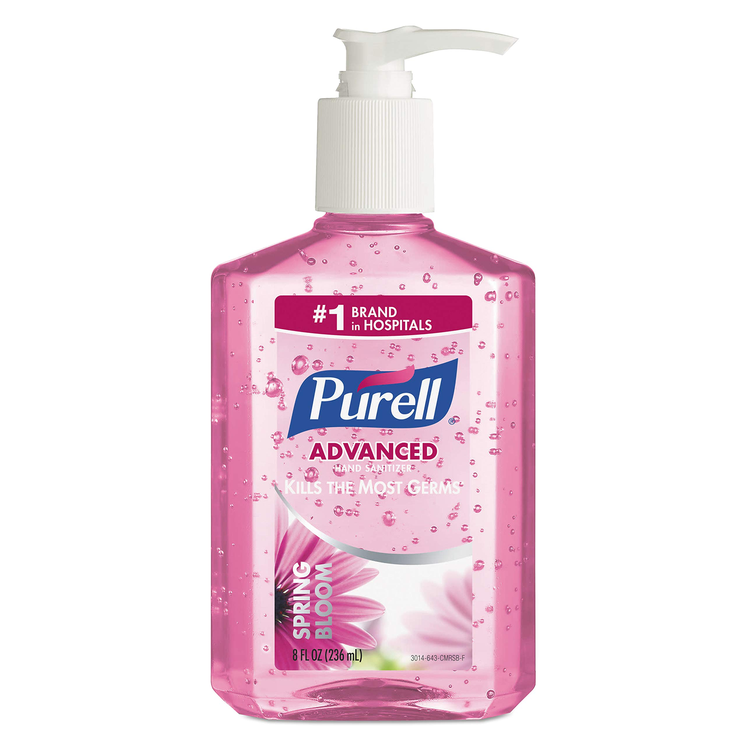 PURELL Advanced Hand Sanitizer Gel, Spring Bloom Fragrance, 8 fl oz Pump Bottle (Pack of 12) - 3014-12 by Purell