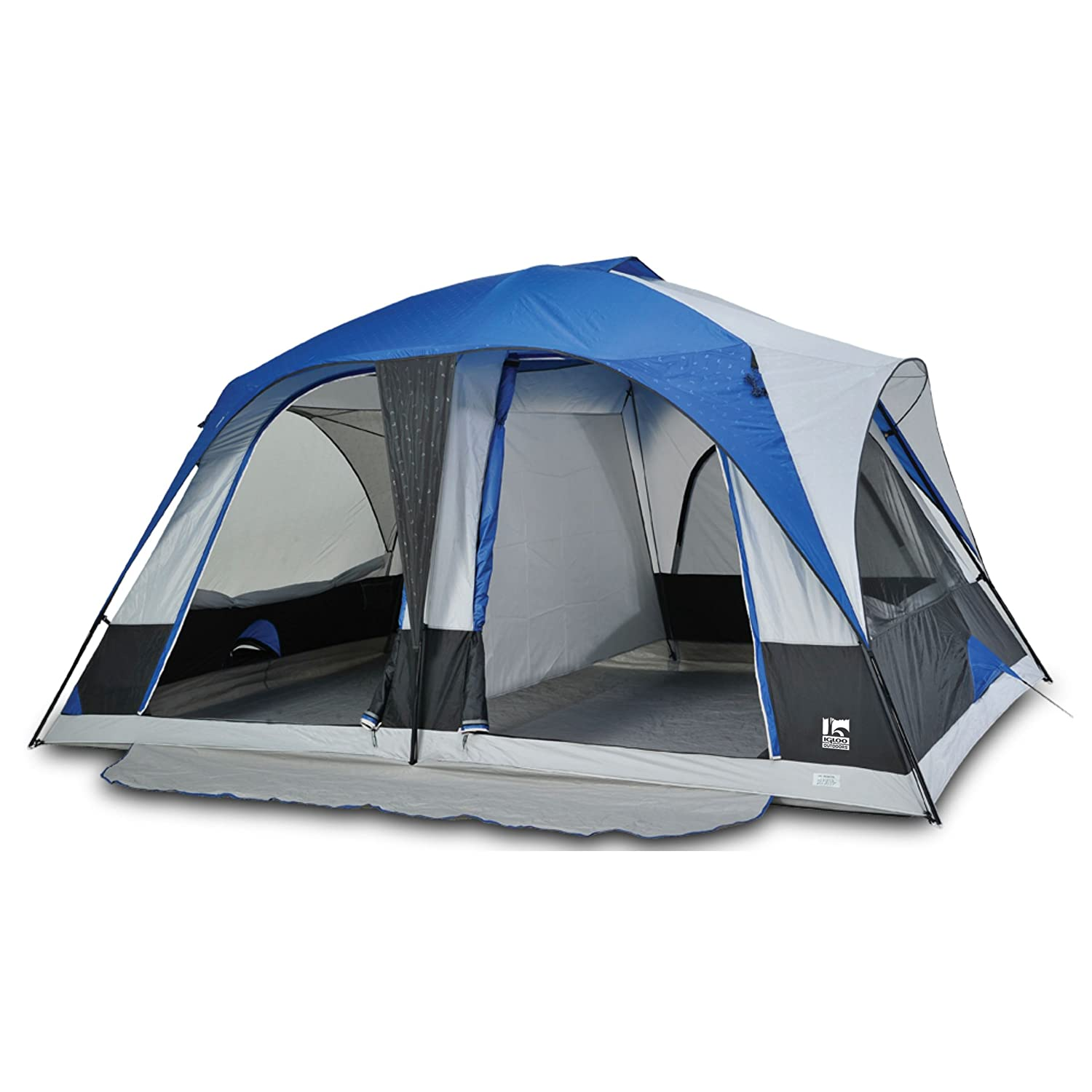 Amazon.com  Igloo Hayden Creek II 2-Room Dome Tent (8-Person) Blue  Family Tents  Sports u0026 Outdoors  sc 1 st  Amazon.com & Amazon.com : Igloo Hayden Creek II 2-Room Dome Tent (8-Person ...