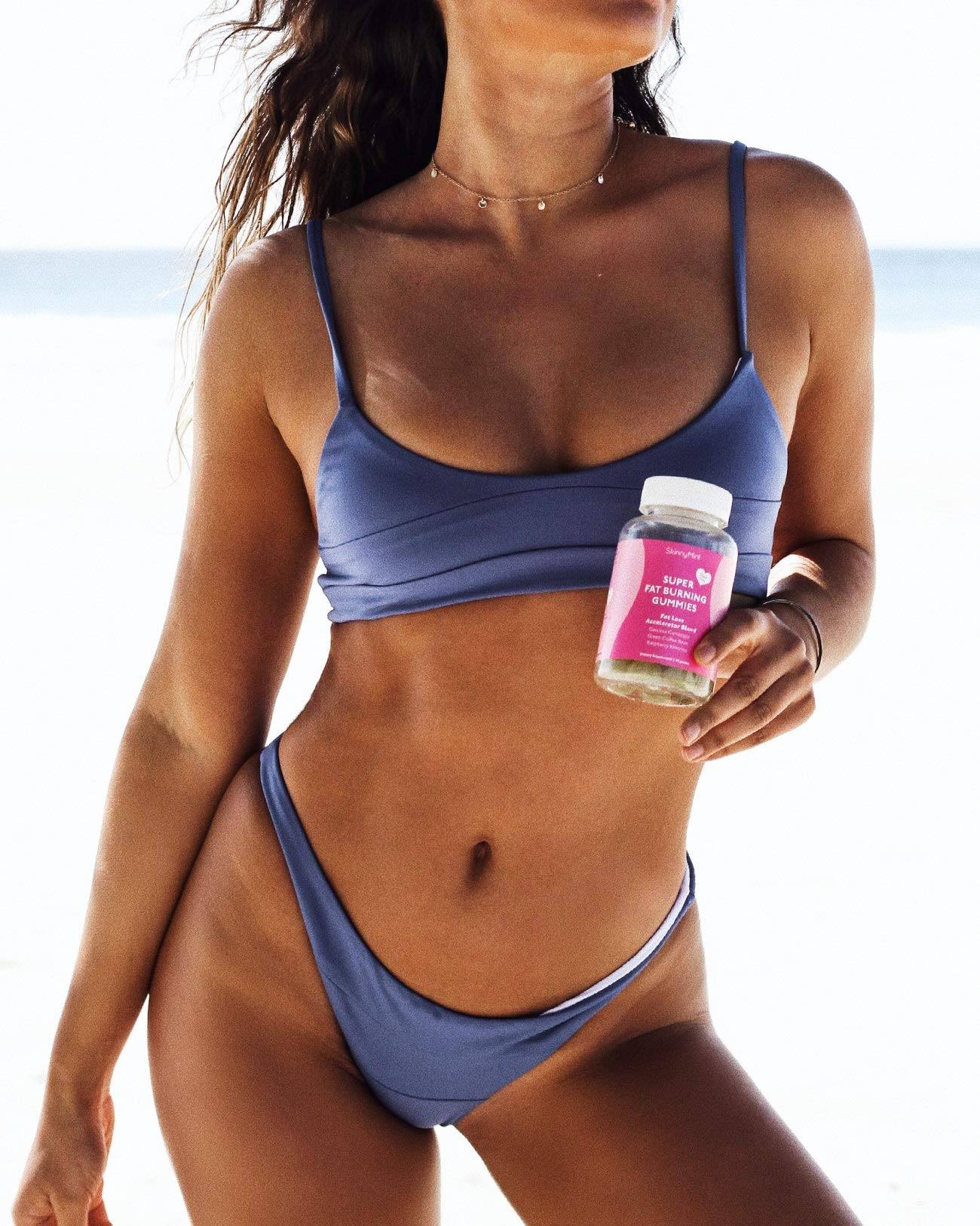 New SkinnyMint Super Fat Burning Gummies (120 Gummies). Powerful Appetite Suppressant. Contains Garcinia Cambogia Extract by SkinnyMint