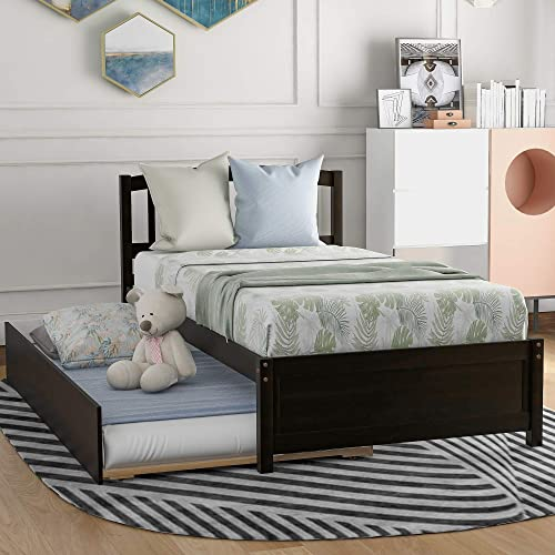 Fat Ant Twin Size Platform Wood Bed