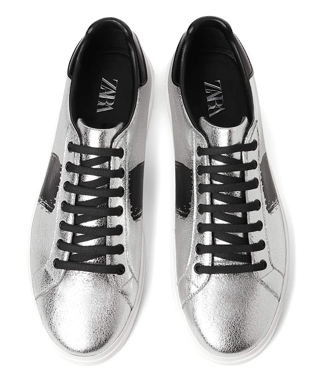 214ce2906d6 Zara Men's Silver Plimsolls 2227/002: Amazon.co.uk: Shoes & Bags