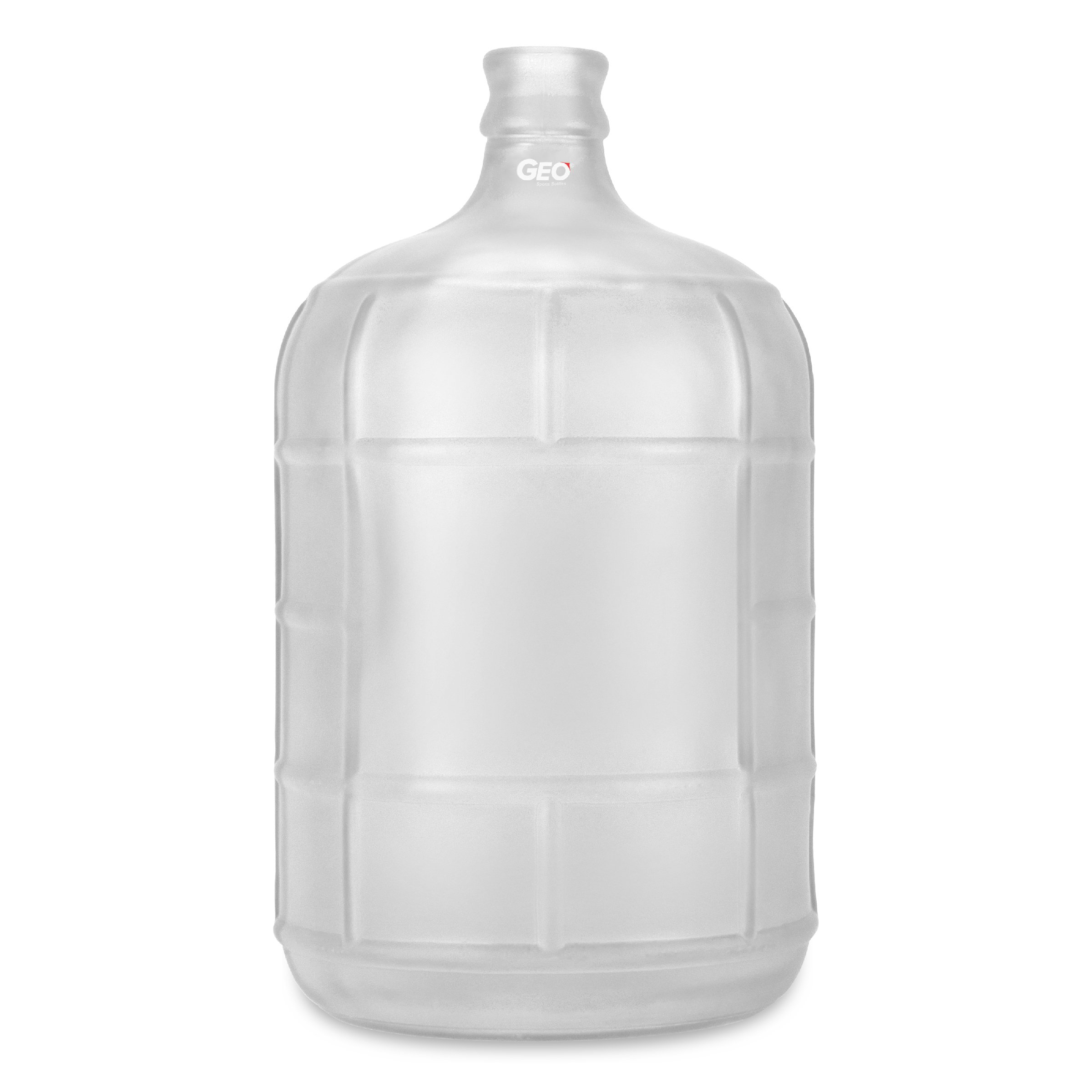 Geo Sports Bottles 3 Gallon Round Glass Carboy fits 30mm Cork Finish or 55mm Push Cap Home Brew (Frosted White)