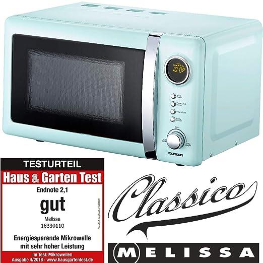 Melissa 16330110 microondas de diseño Retro azul-metálico ...