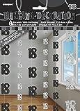 Unique Party - 55342 - Paquet de 6 Décorations de 18e Anniversaire Suspendues - 1,5 m - Noir Glitz