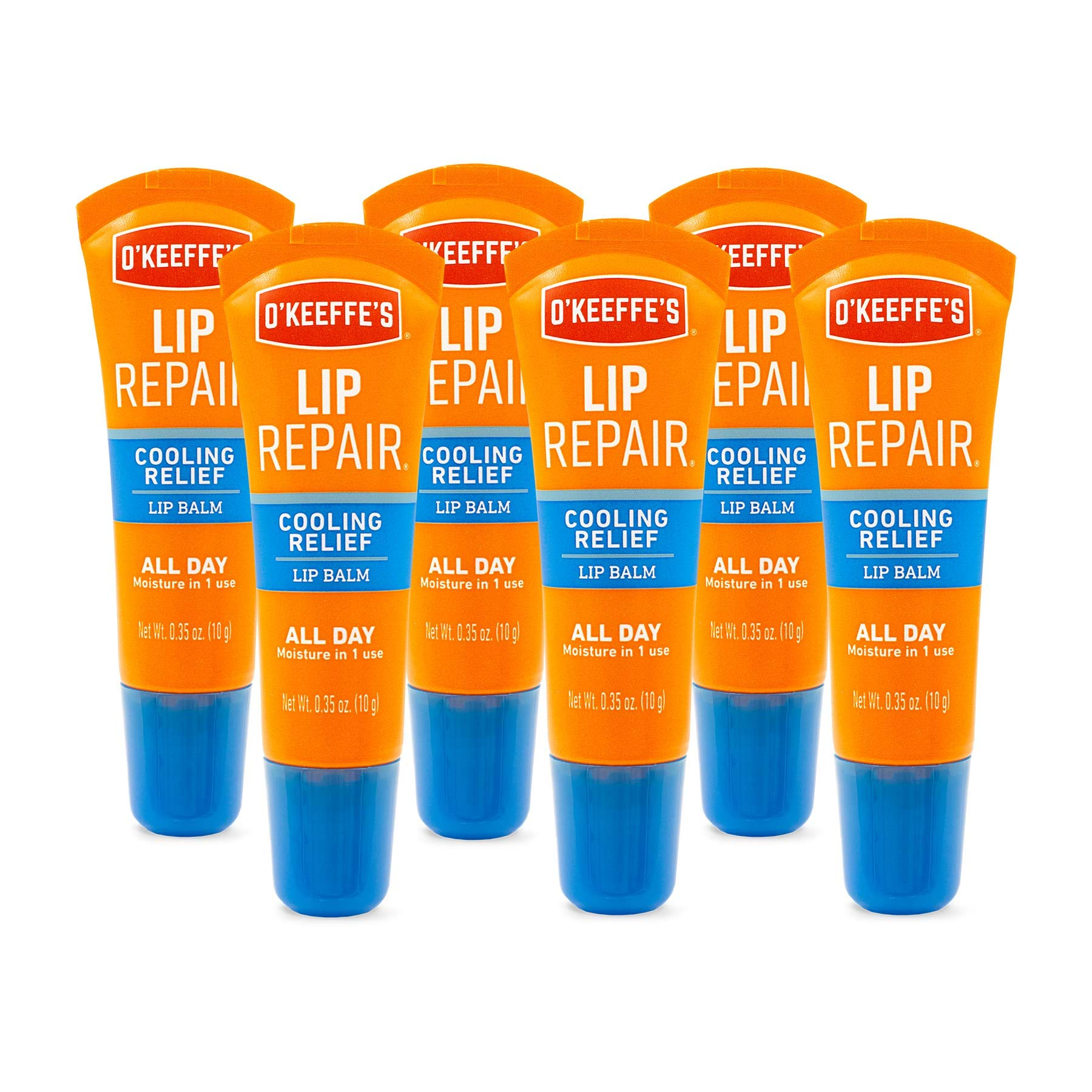 O'Keeffe's Cooling Relief Lip Repair Lip Balm, .35 ounce Tube, (Pack of 6) by O'Keeffe's