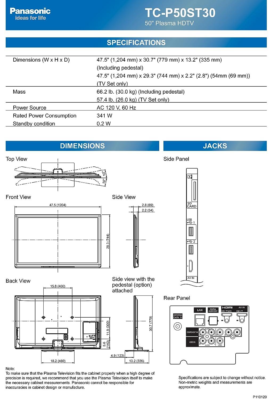 Panasonic Viera Tc P50st30 50 Inch 1080p 3d Plasma Hdtv Tv Circuit Board Repair As Well Samsung Schematic Diagram 2011 Model Electronics