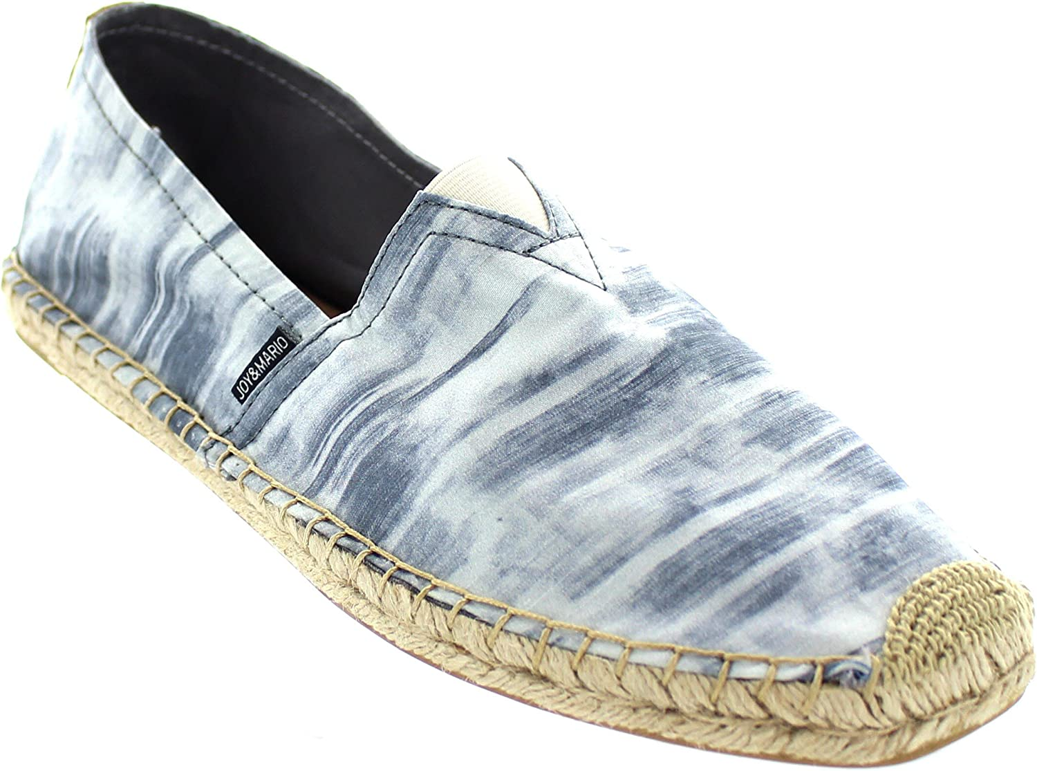 Joy and Mario Mens 19 Variations Bundle Casual Comfort Canvas Hemp Leather Slip-On Loafers Espadrille Flats Shoes