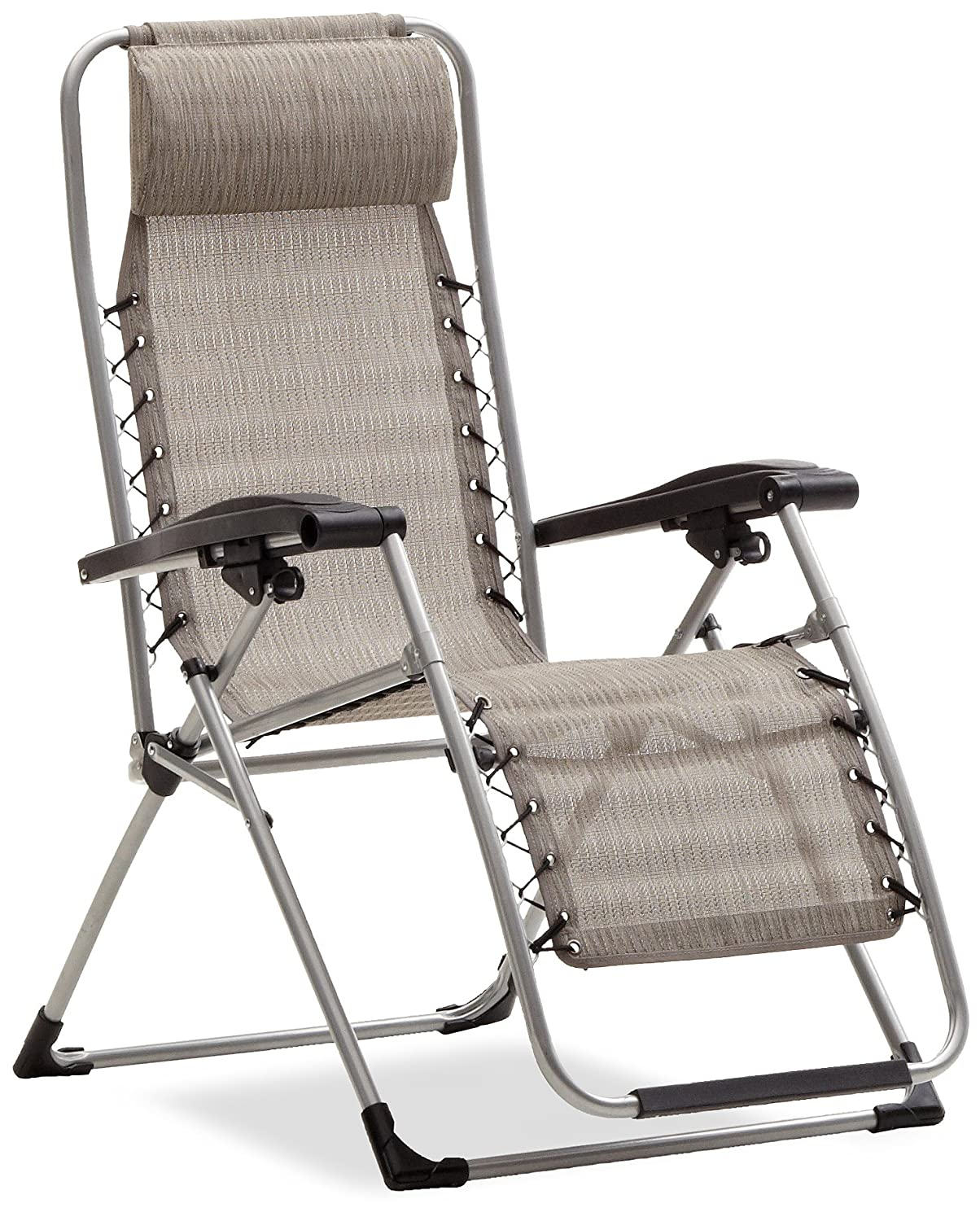 Amazon.com : Strathwood Basics Anti-Gravity Adjustable Recliner Chair,  Natural : Patio Lounge Chairs : Garden & Outdoor