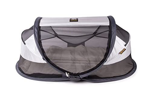 Deryan Travel Cot Baby Luxe (Silver)