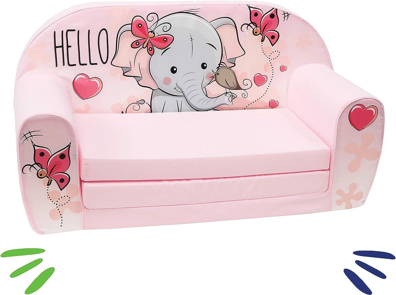 Sofá infantil, color rosa