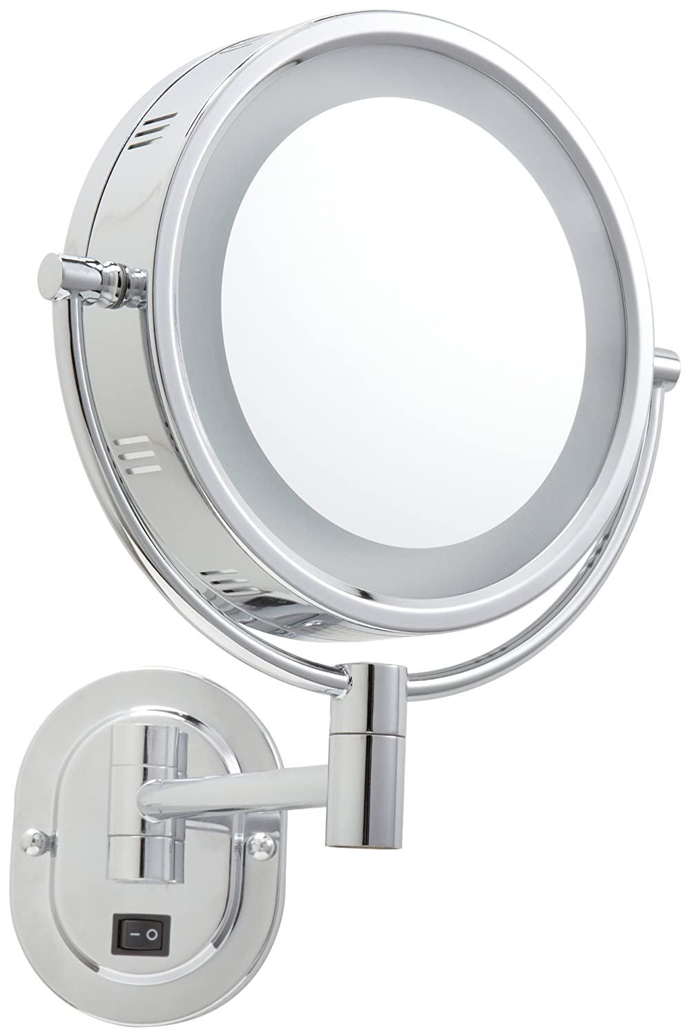 Amazon jerdon hl165cd 8 inch lighted wall mount direct wire amazon jerdon hl165cd 8 inch lighted wall mount direct wire makeup mirror with 5x magnification chrome finish beauty amipublicfo Gallery