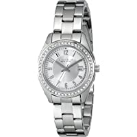 Caravelle Women's Quartz Watch with Stainless-Steel Strap, White, 14 (Model: 43M120)