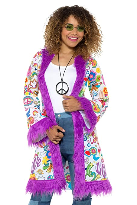 Hippie Costumes, Hippie Outfits Smiffys 60s Hippie Coat Womens Costume $38.76 AT vintagedancer.com