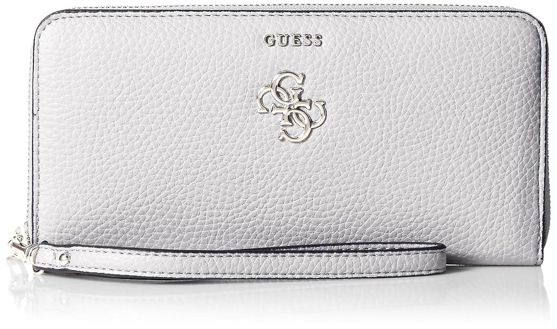 Guess Flora SLG Large Zip Around 686546 Damen Geldbörse 21x10x2cm (silver)