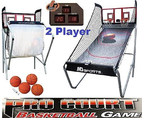 MD Deportes Baloncesto Pro Corte 2-Player W/8 Juegos electrónico ...