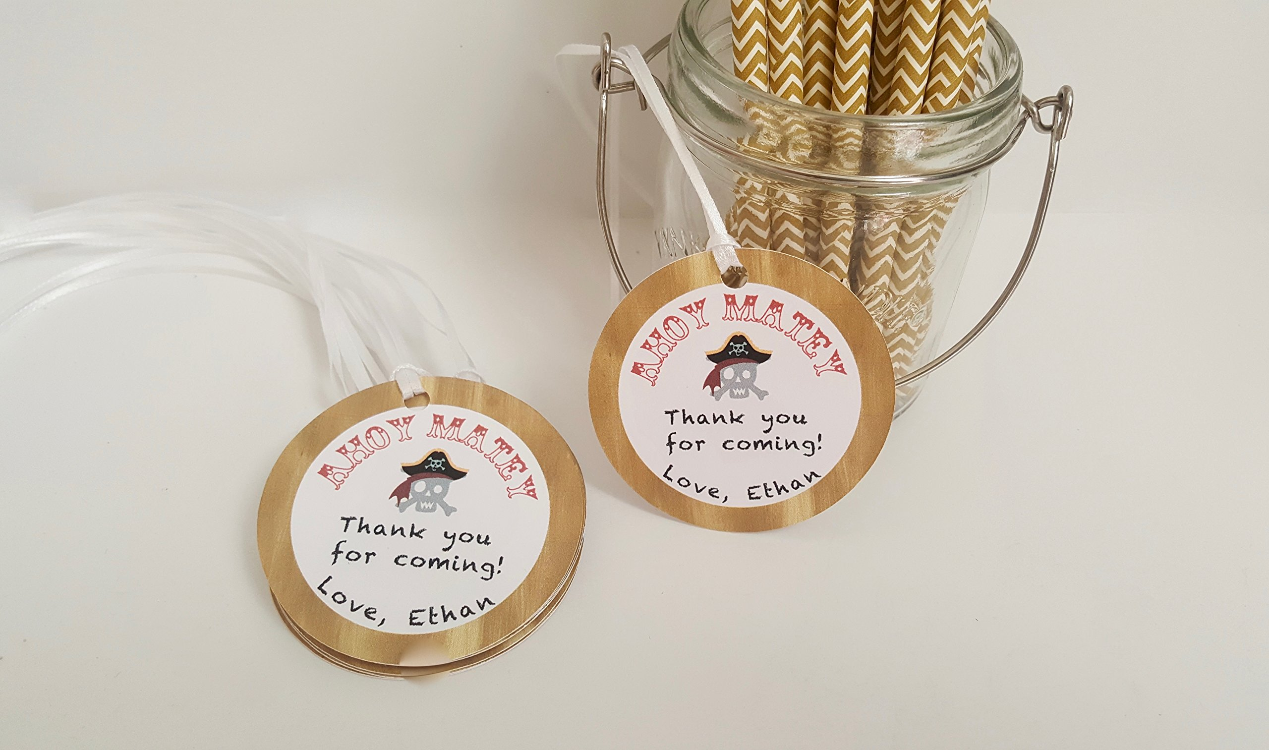 Pirate Party Favor Tags