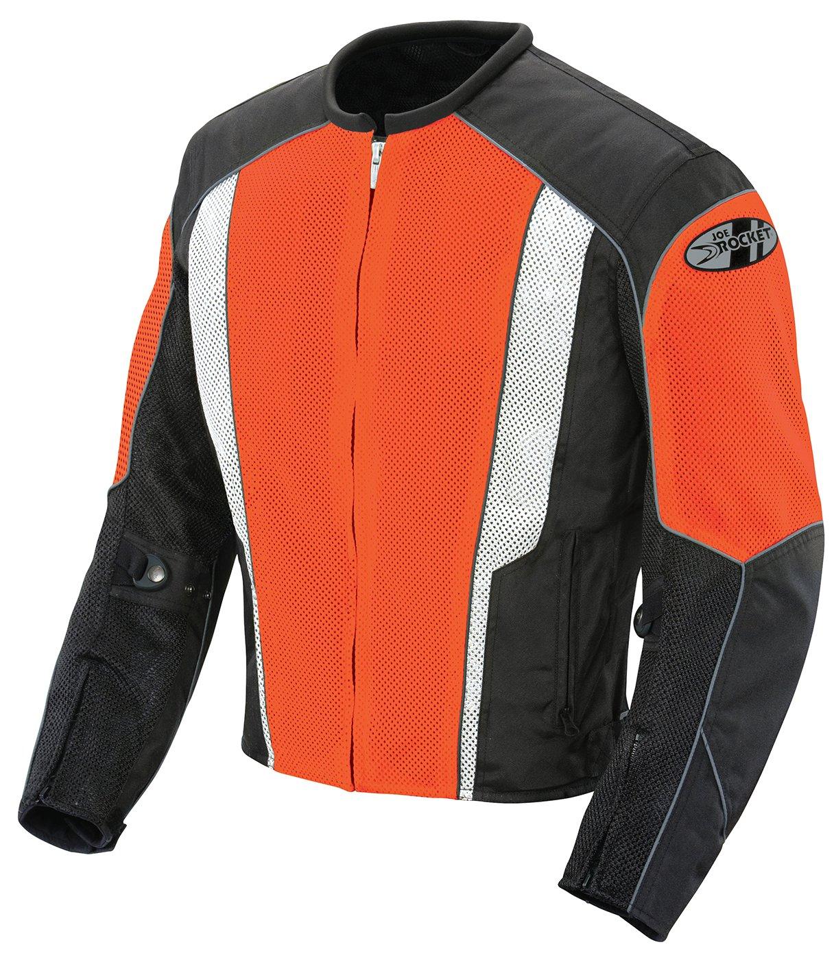 Joe Rocket Phoenix 5.0 Men's Mesh Motorcycle Riding Jacket (Orange/Black, X-Large) by Joe Rocket