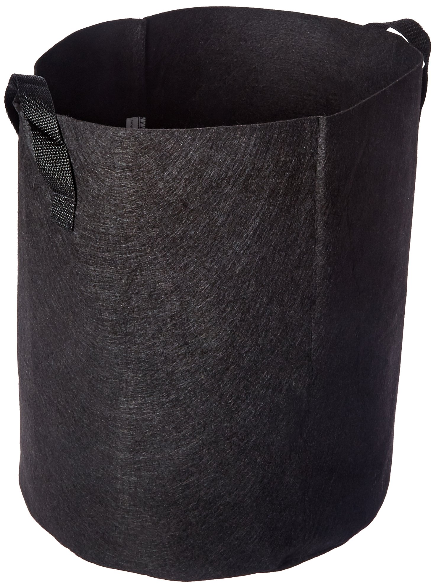 Viagrow Breathable Fabric Root Aeration Pot with Handles (5 Pack), 7 gallon, Black