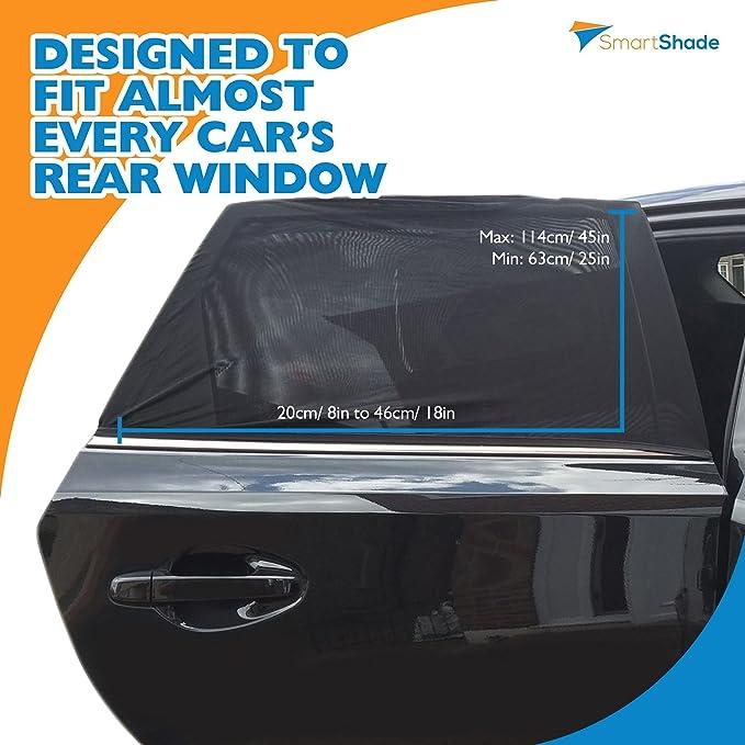 Coche Sun Shades para ventanillas traseras - Bonus Protector de asiento de coche - Universal parasol para bebé, niños y mascotas en asiento trasero del ...