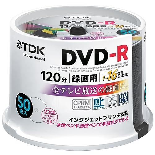 TDK 録画用DVD-R ホワイト・ディスクDR120DPWC50PUE