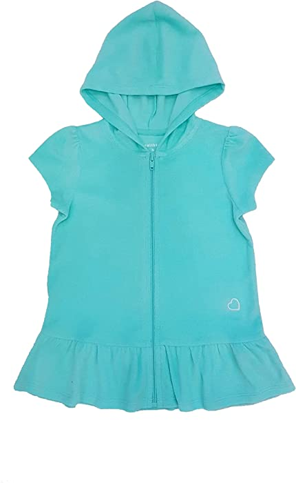 fa99c6c645 Amazon.com  Healthtex Little Girls Toddler Terry Hooded Swimsuit ...