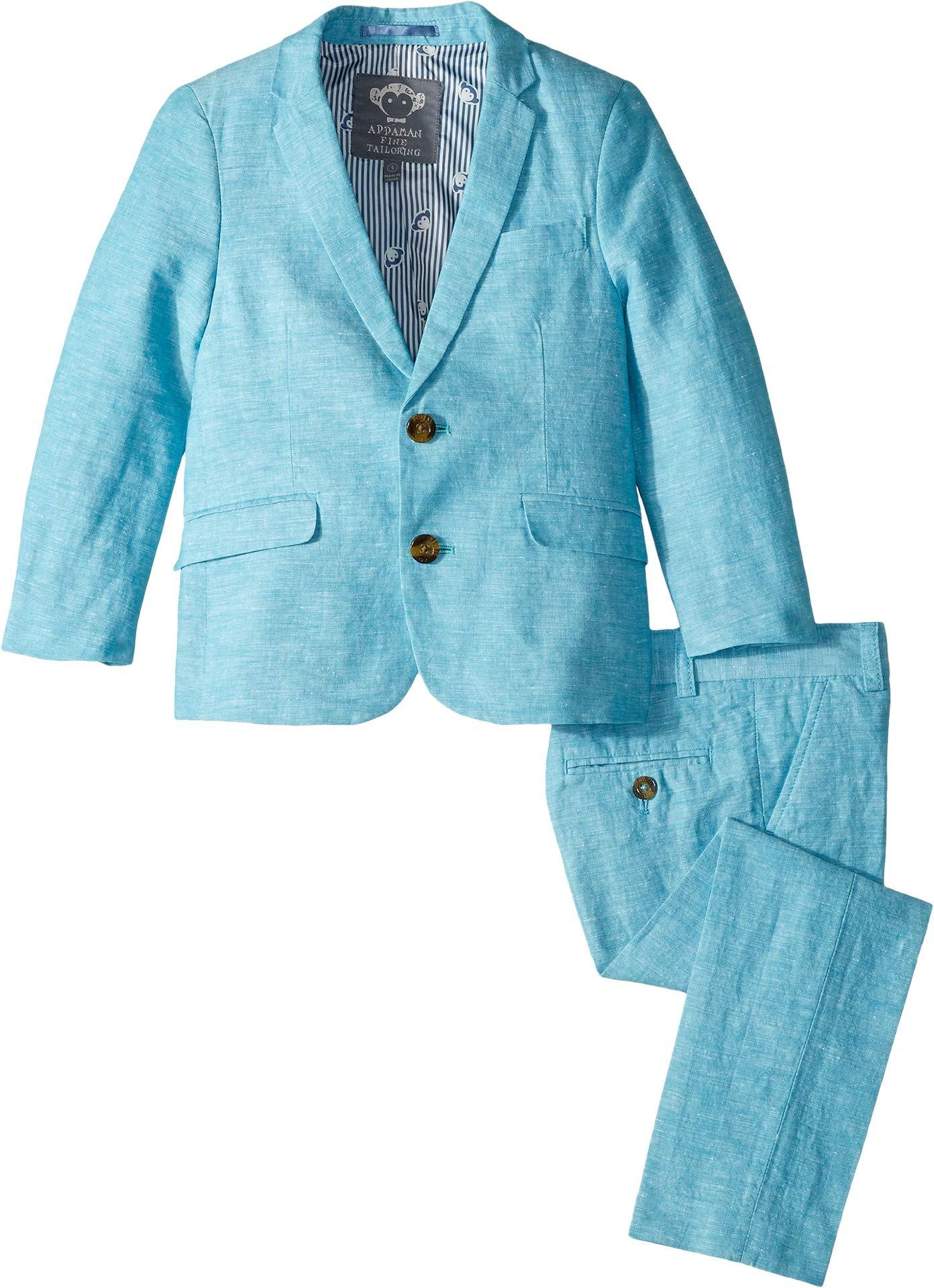 Appaman Kids Baby Boy's Mod Suit (Toddler/Little Kids/Big Kids) Scuba Blue 8