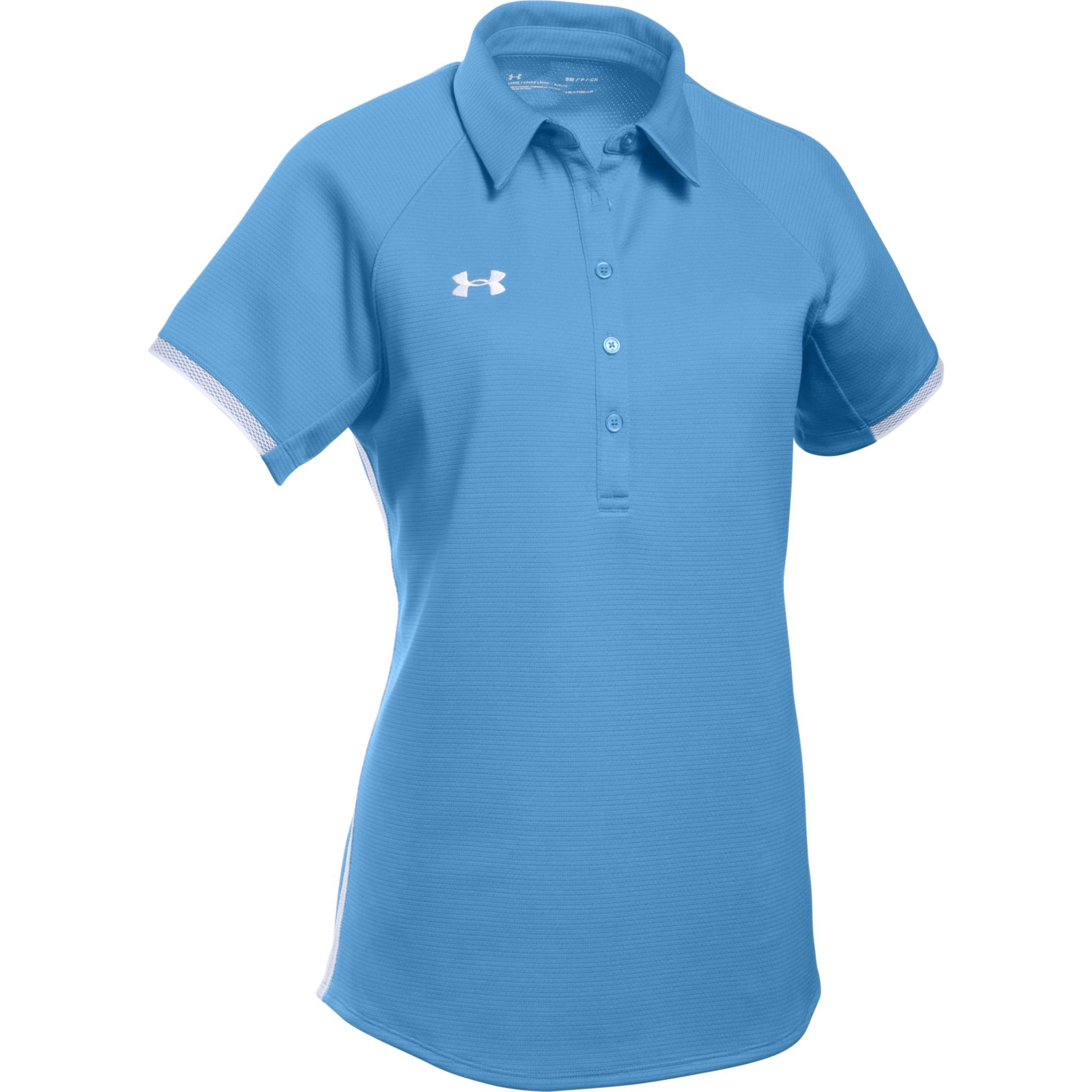 Under Armour Women's UA Rival Polo (X-Large, Carolina Blue-White) by Under Armour
