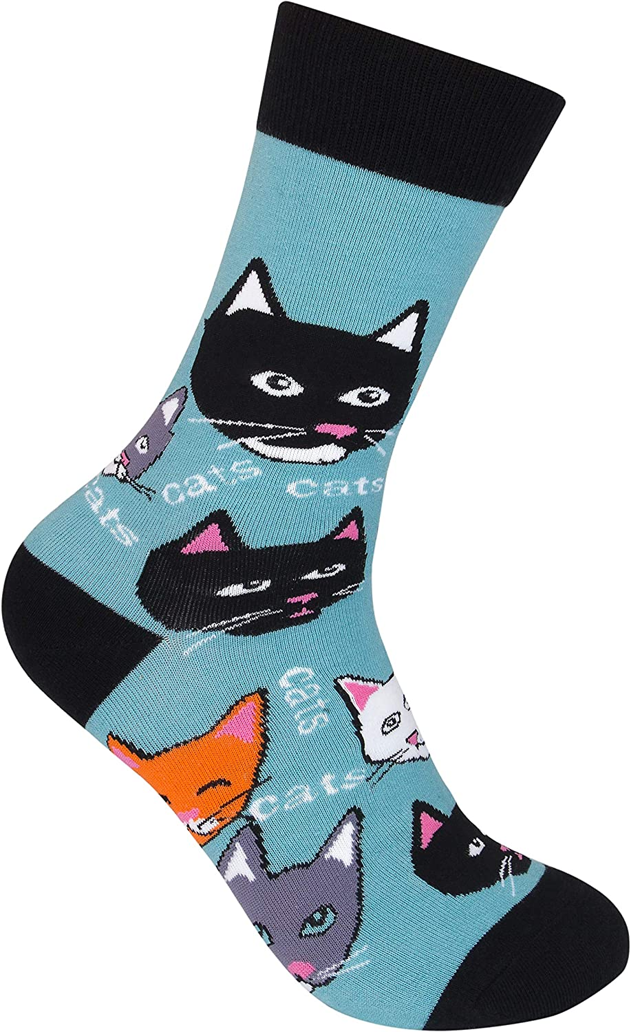 Pet All The Cats Socks Funny Cat Face Hilarious Kitten Novelty Footwear Crazy Dog Tshirts