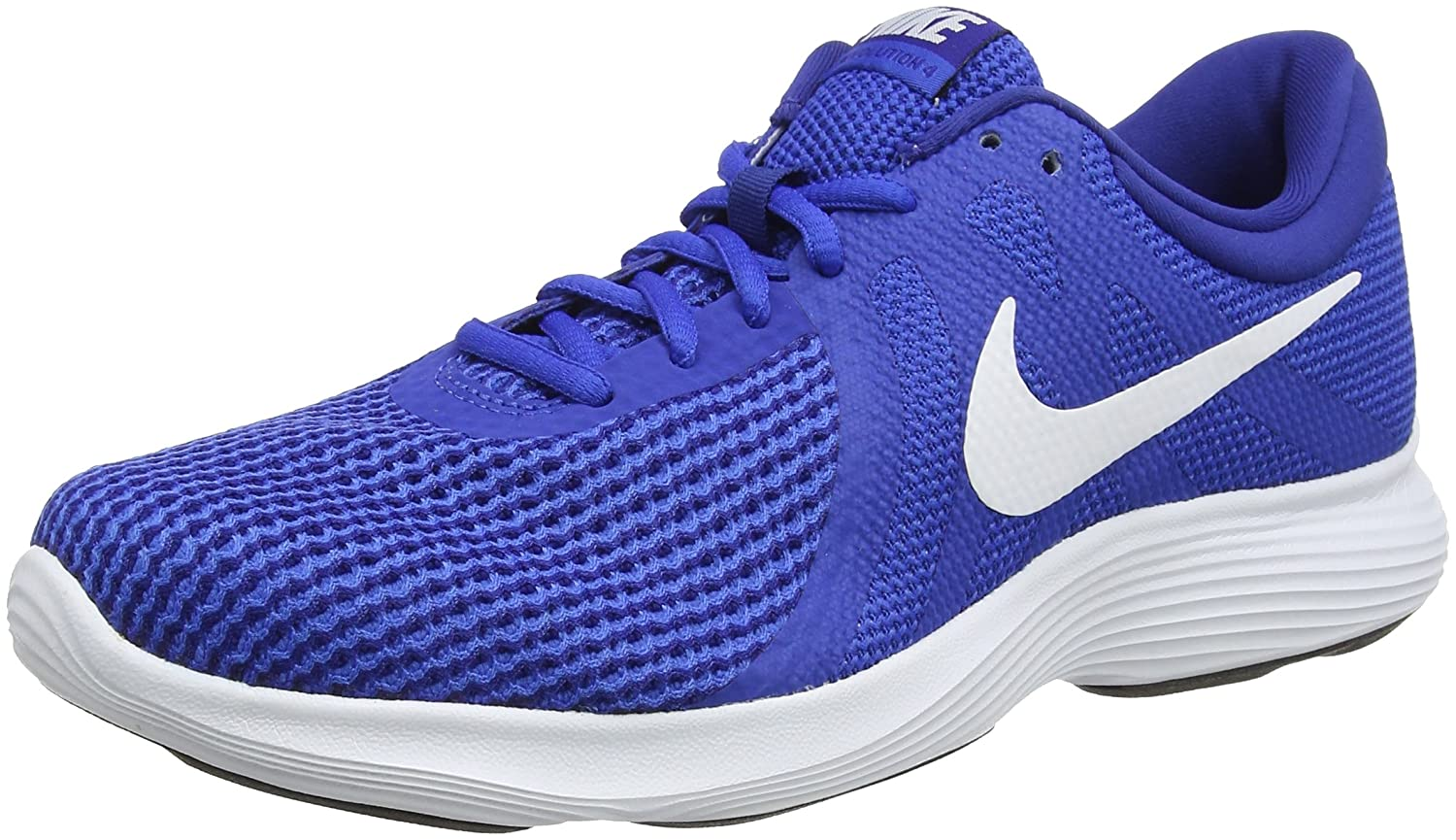 Nike Revolution 4, Zapatillas de Running para Hombre 44 EU|Azul (Game Royal/White-deep Royal Blue-black 400)