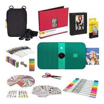 KODAK Smile Impresora Digital instantánea (Green) Kit ...