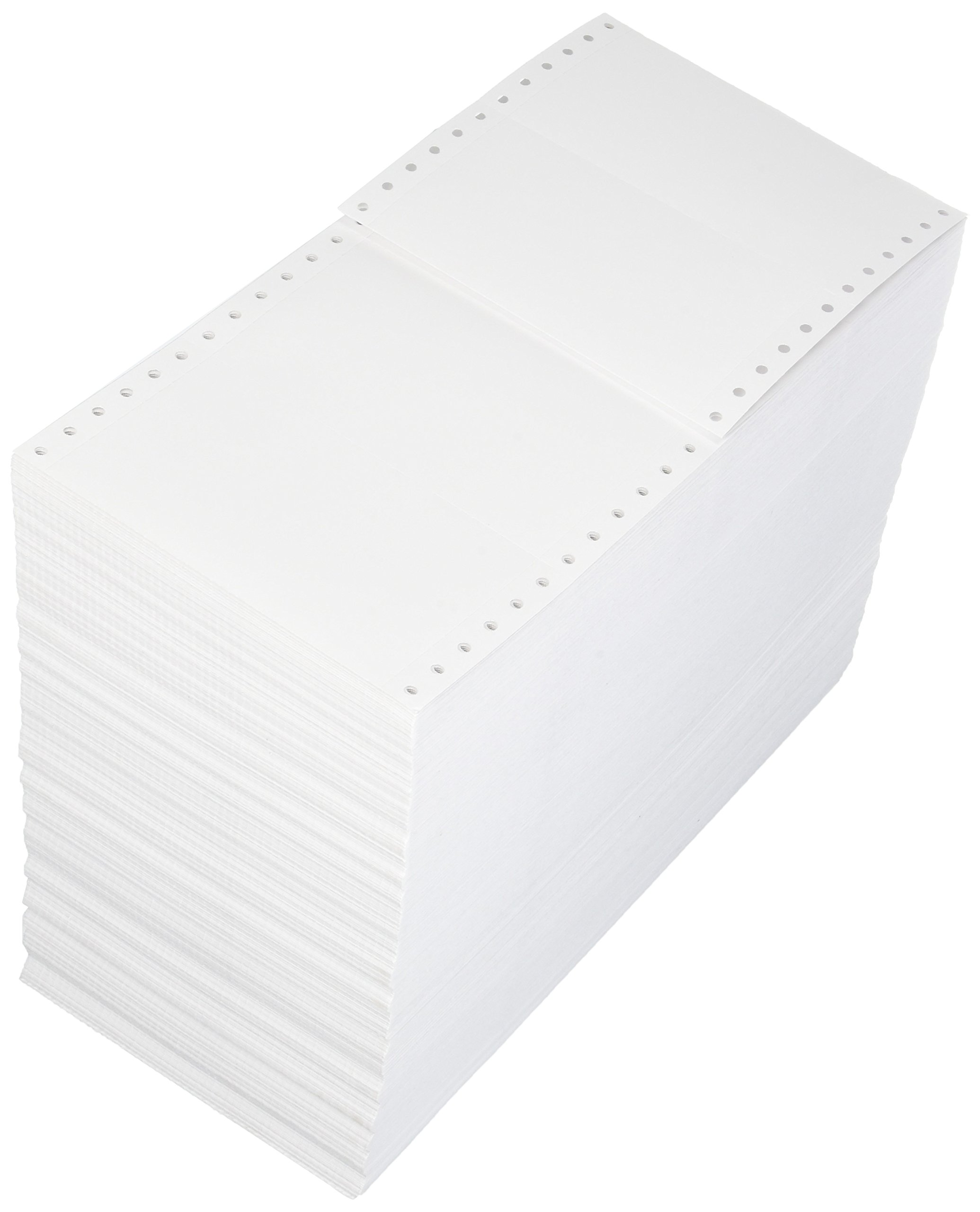 Compulabel Pinfeed Cards Fanfold 100 Pound, 92 Brightness, White (210150)